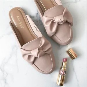 Shoes | Blush Slides with Bow
